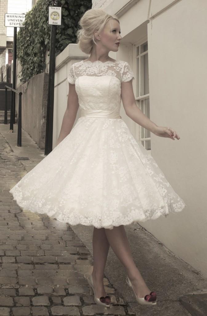 Sarah by House of Mooshki short wedding dress at cutting edge brides