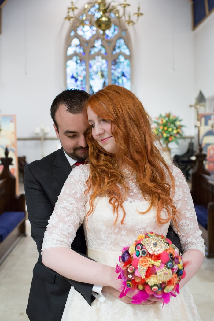 3/4 length sleeve wedding dress