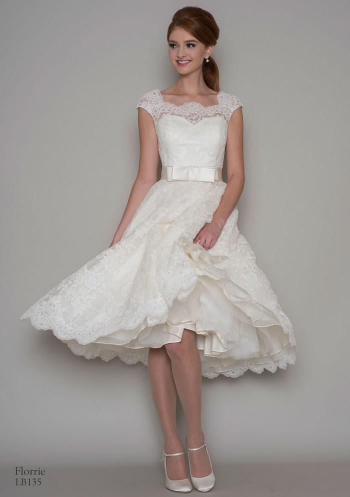 1950s tea length wedding dress  - wedding gift lists