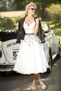 1950's inspired wedding dress