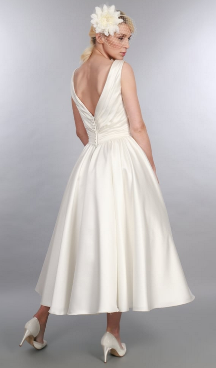 Betsy short wedding dress at Cutting Edge Brides is a Simple Short Wedding Dress