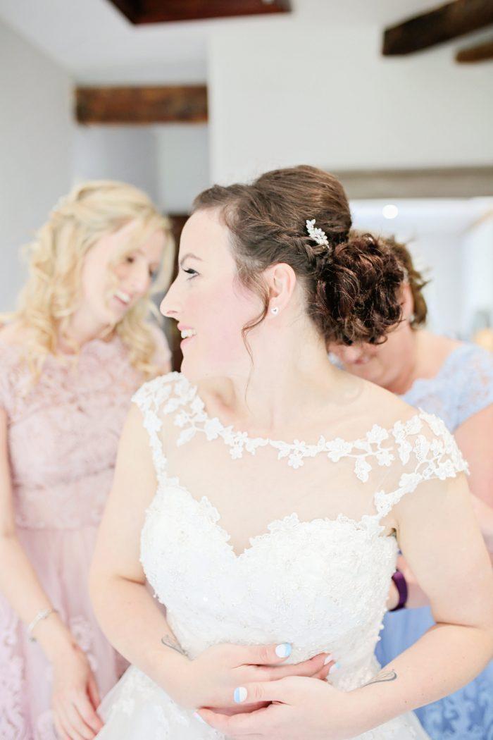 Markella wearing short wedding dress Molly Mae