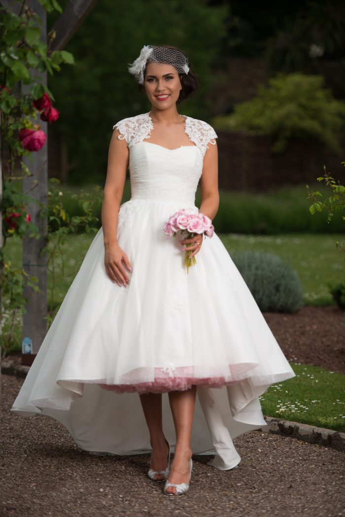 Olivia by Timeless Chic. Short Wedding Dress at Cutting Edge Brides and What to do with one week until your wedding