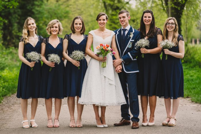 What Length Bridesmaid Dresses Go With Short Wedding Dressescutting Edge Brides