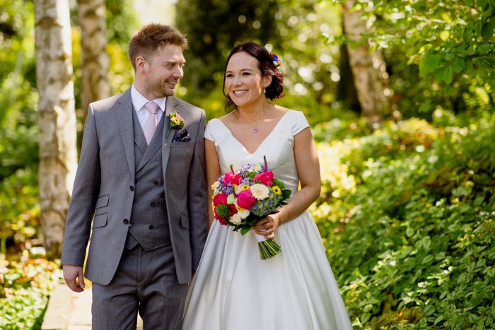 Laura & John Wedding Day wearing Cutting Edge Brides Dress