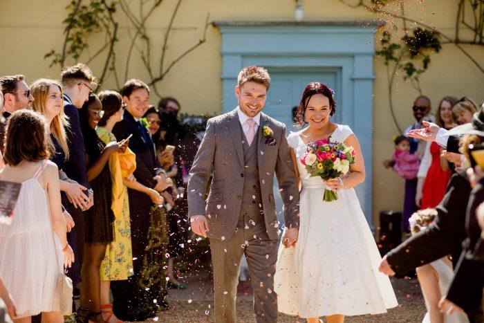 Laura and John - Dream wedding dress for a new mum