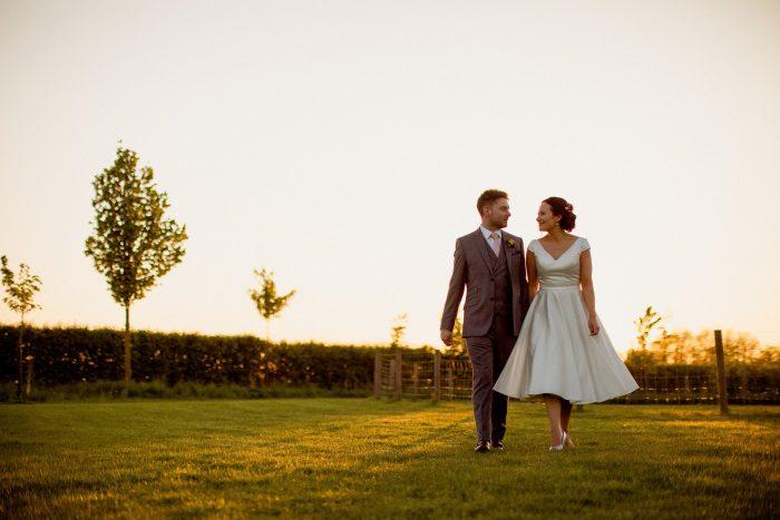 Laura & John Wedding short wedding dress