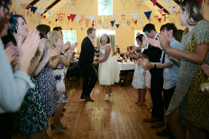 A rural wedding in wales in a vintage style dress by Cutting Edge brides