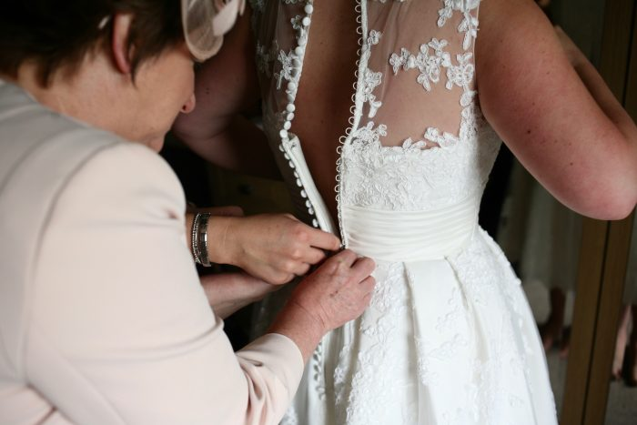 A Rural Wedding in a Vintage Style Gown
