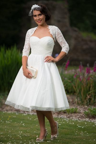 Elizabeth Timeless Chic Polka Dot Vintage Style Wedding Dress