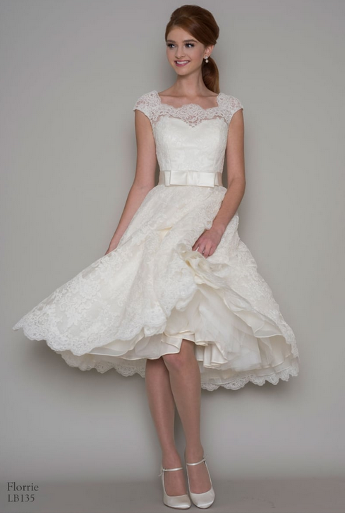 choosing the right short wedding dress for your shape