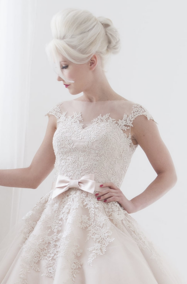 Stay calm before your wedding in a cutting edge brides dress