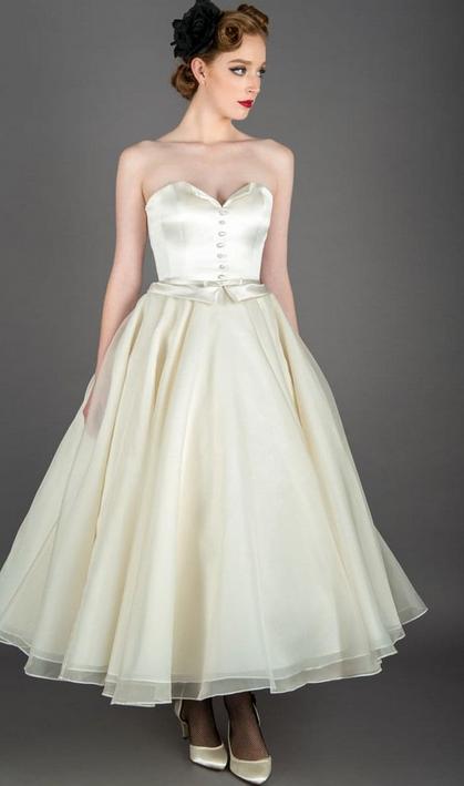 Stunning Strapless Short Wedding Dress