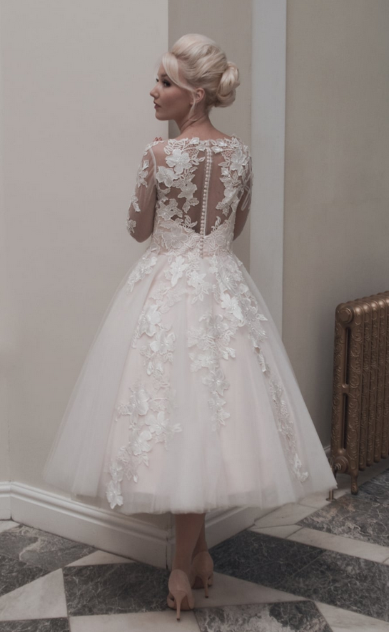 lace bodices on short wedding dresses