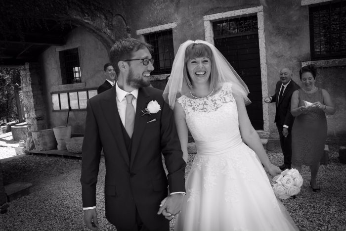 Real Bride - a destination wedding at Lake Garda with cutting edge brides