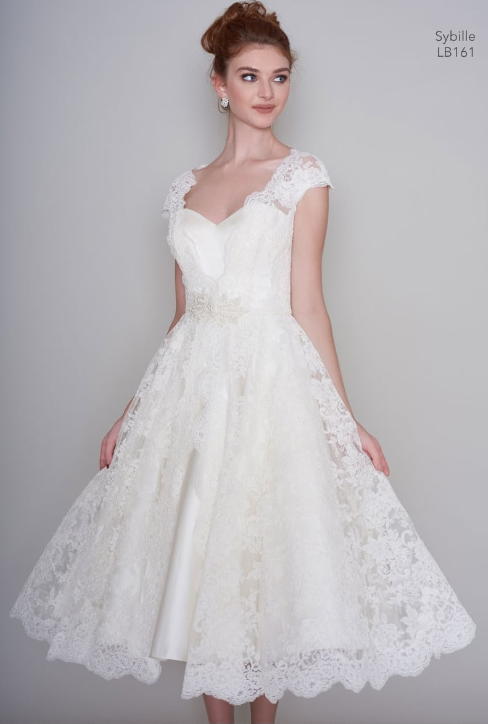 romantic short wedding dress