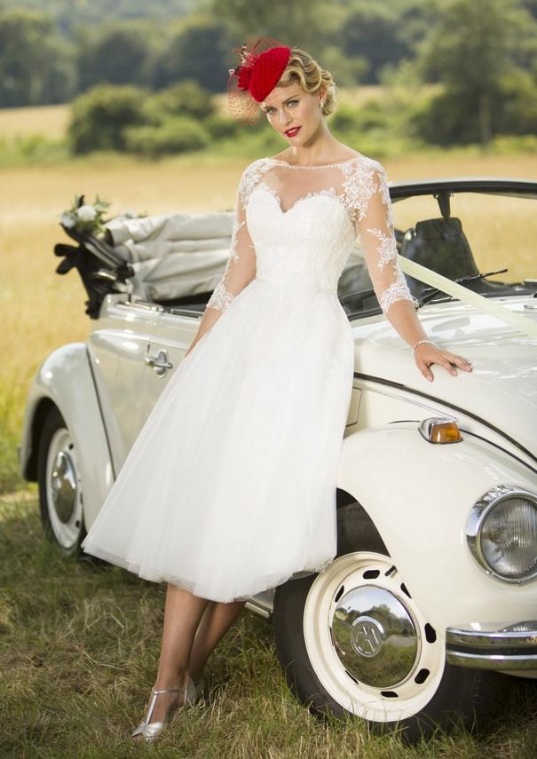 tulle short wedding dresses