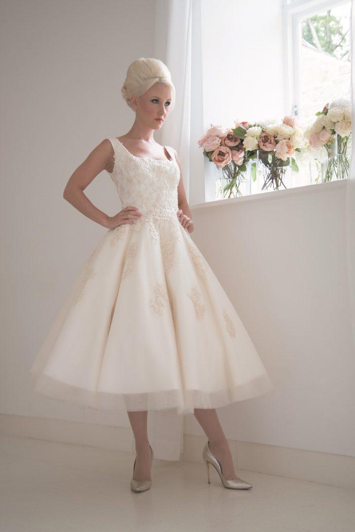 fairytale short wedding dresses
