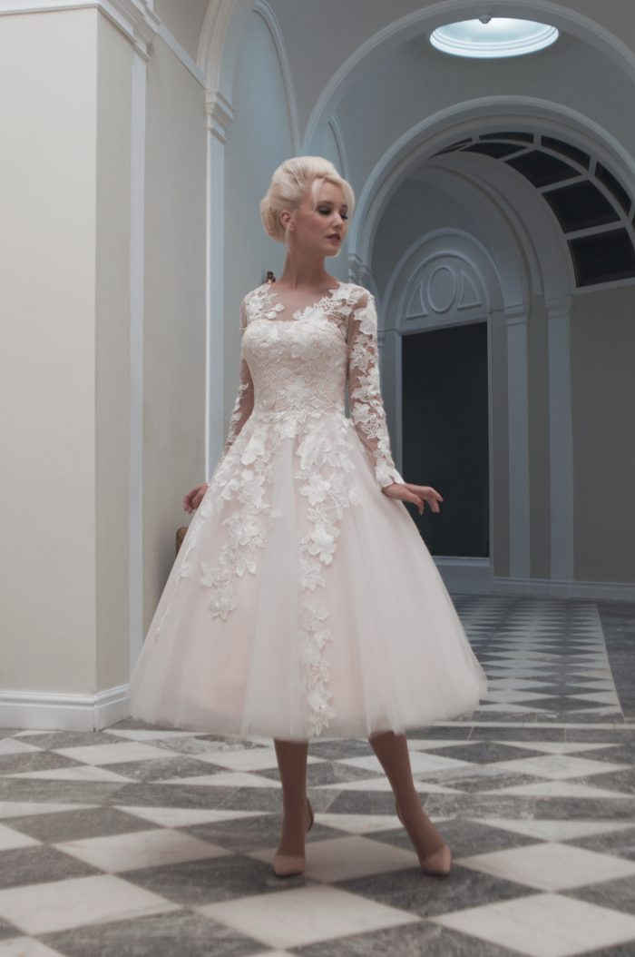 Choosing a short wedding dress for your shape