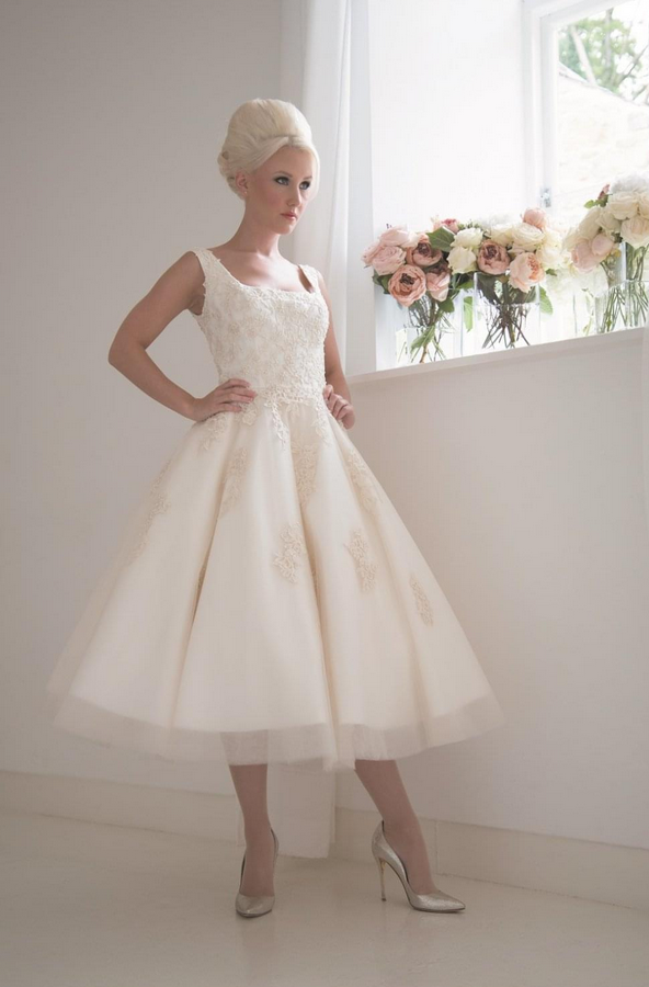 statement short wedding dress