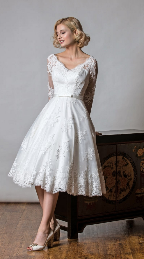 Shelley Rita Mae at Cutting edge brides vintage style wedding dress
