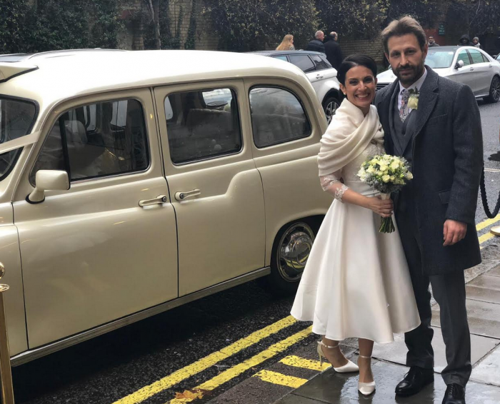 Sara & Luca Bride wore Timeless Chic vintage inspired wedding gown from Cutting Edge Brides