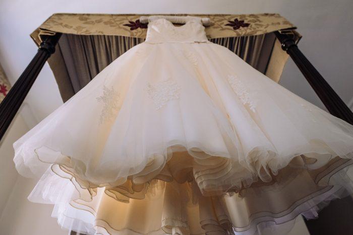 Calf length wedding dress at Cutting edge brides