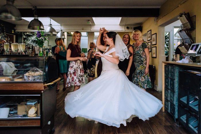Real bride at Cutting Edge Brides