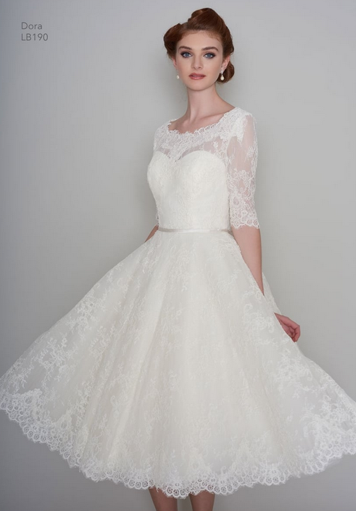 Dora by Loulou bridal great short wedding gowns for mature brides