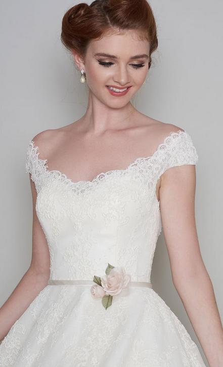 Daisy Loulou Tea length wedding dress