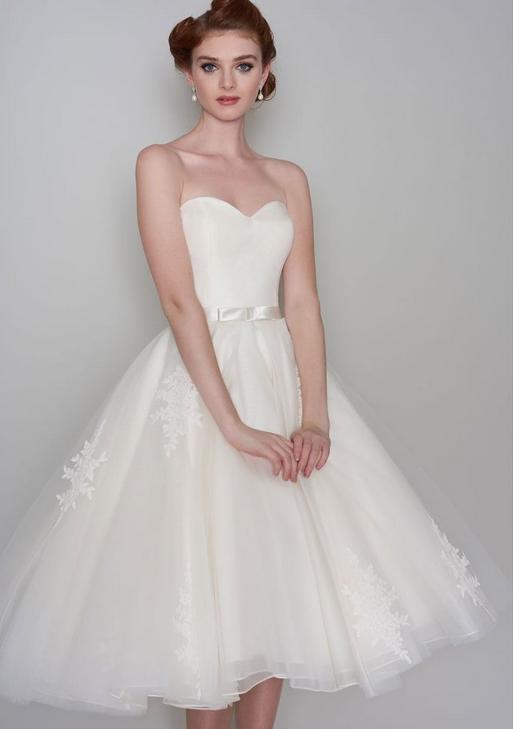 vintage style short wedding dress