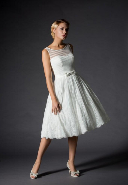 informal short wedding dress by Rita Mae