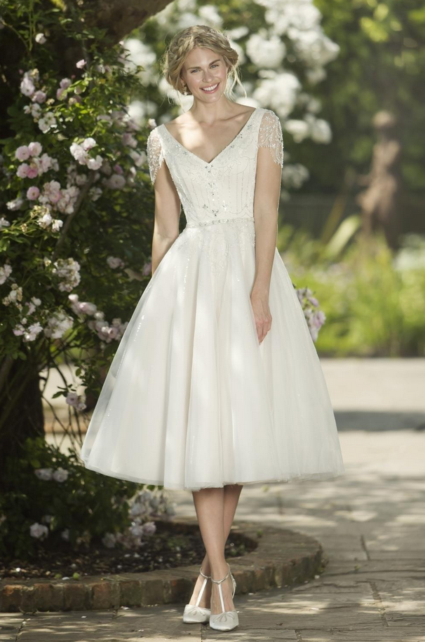 informal short wedding dress