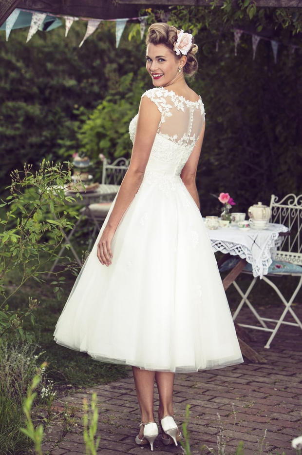 Molly- MAe Tea Length Retro Wedding Dress