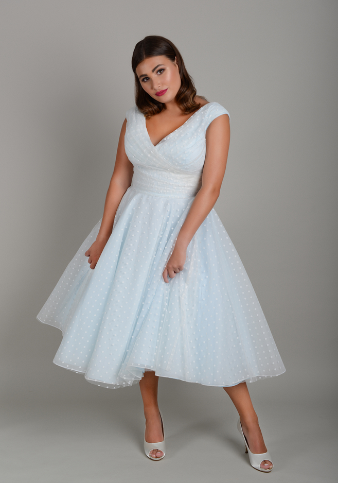 Elsie by Lois Wild is one of the best plus size short wedding dresses