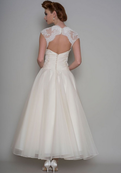 don't forget the back detail on your dress, the wonderful Crissie by Loulou has an intricate lace detail