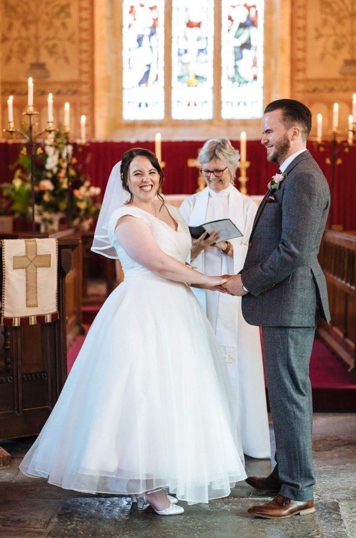 Stunning Silhoutte calf length wedding dress
