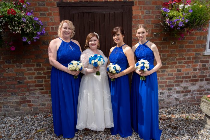 Cutting Edge Brides real wedding - Bride and bridesmaids