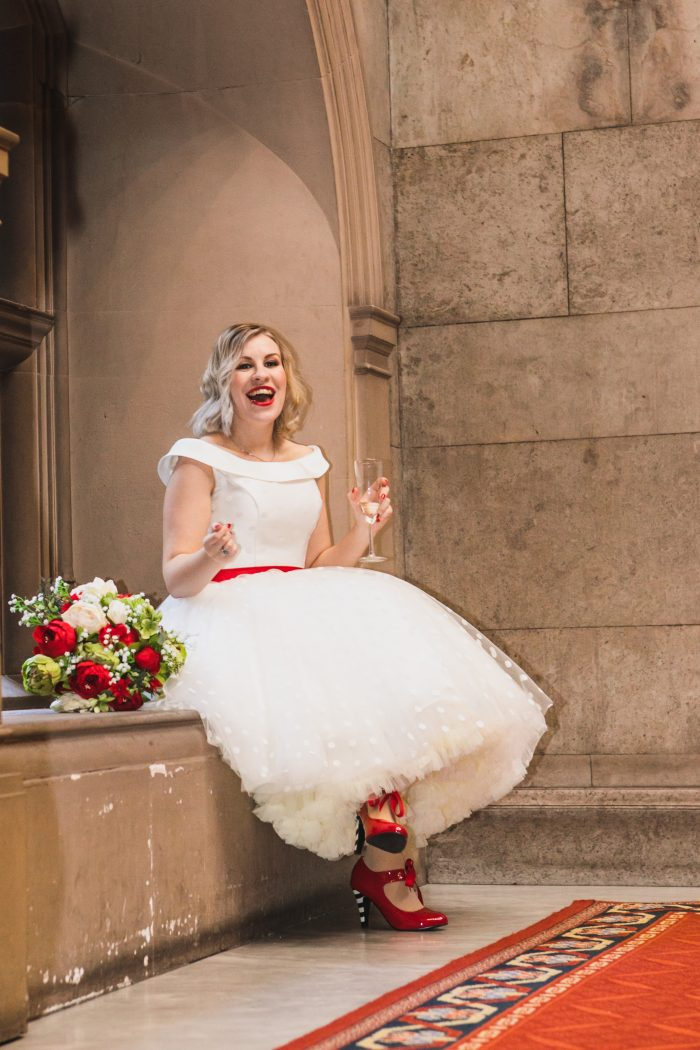Arizona tea length wedding dress by Rita Mae