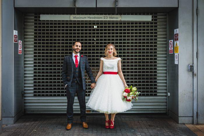 Short wedding dress Arizona worn by Laura - Cutting Edge Brides