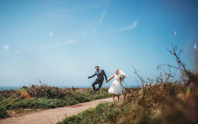 alternative short wedding dress