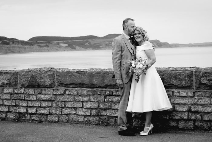 a vintage style tea length dress worn by our real bride Beth
