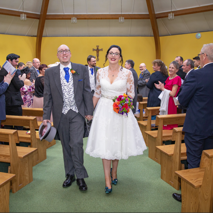 short wedding dress at Cutting Edge Brides
