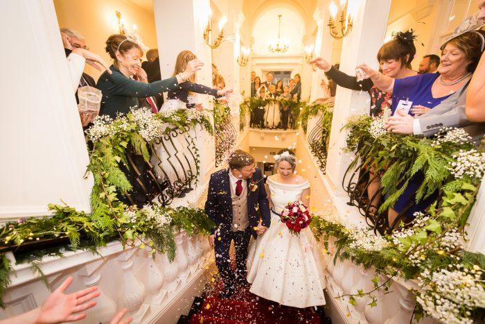 Real Couple - bride wearing stunning alternative wedding dress