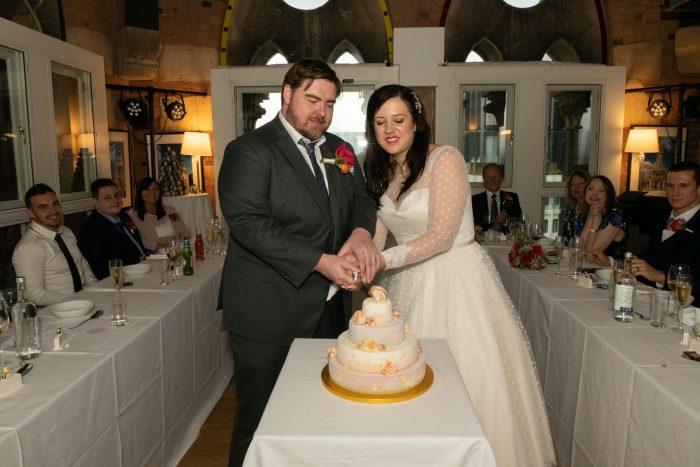 Dotty vintage style wedding dress