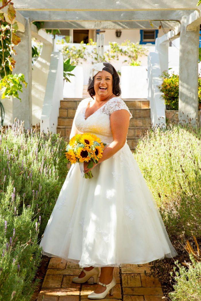 Bespoke Tea Length Wedding Dress