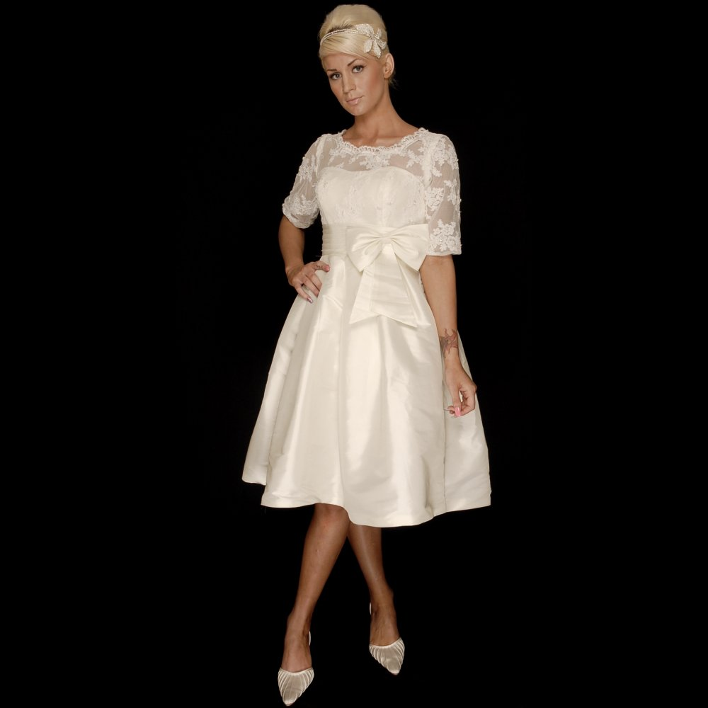 1950s style wedding dress short 50s style wedding dresses for Short wedding dresses uk