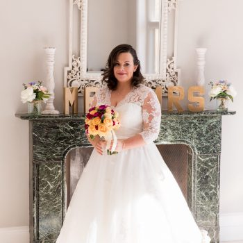 Real Brides blog - Louise wearing 'Rosie' wedding dress from Cutting Edge Brides