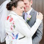 accesorize your tea length wedding dress - Real Brides Markella and Jonathon