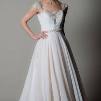 AMALFI, beautiful tea length short wedding gown by Rita Mae